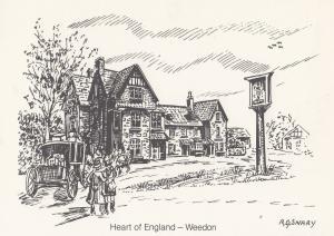 Weedon Heart of England Postal Service Artist Pub Northampton Postcard