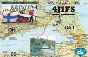 Vyborg Russia MV Island Rare QSL Radio Card