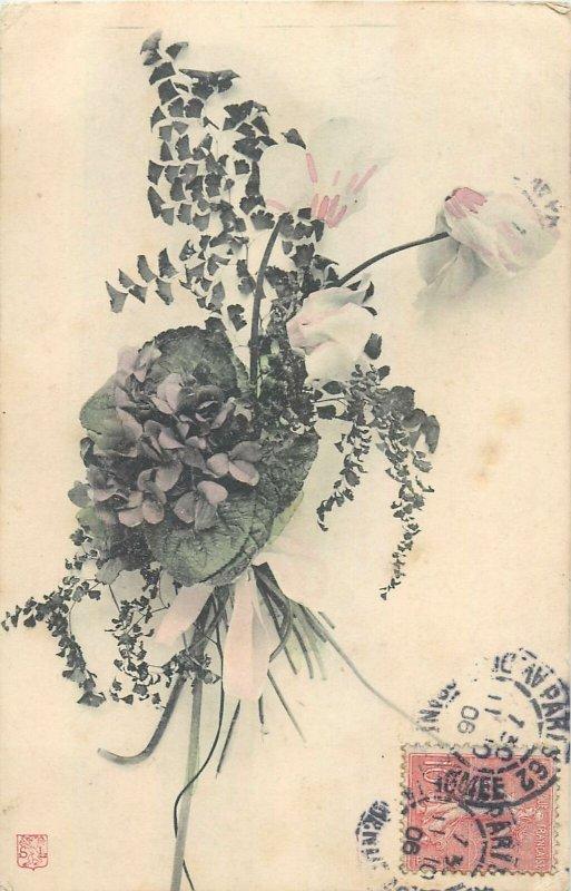 Postcard Greetings flowers spring bouquet