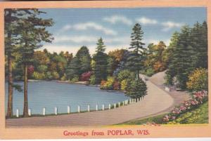 Wisconsin Greetings From Poplar