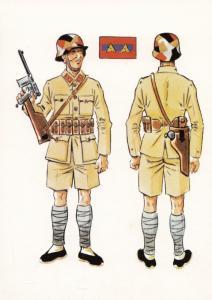 Italian WW2 Military Uniform Sargento De Infanteria Verano Postcard