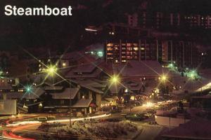 CO - Steamboat Village at Night