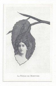Art Nouveau ; XAVIER SAGER ; Woman & Leaf Combo; 1901-07 ; De L'Abricotier