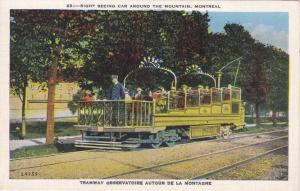 Montreal QC, Quebec, Canada - Tramway Sight Seeing Car - WB