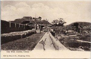 City Wall Canton China Unused Graca & Co. Hong Kong Postcard G12