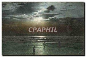 Old Postcard Deauville Beach Sunset Fleurie