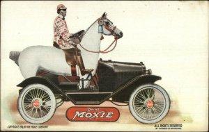 Moxie Beverage Soda Horse Car Advertising 1916 Postcard