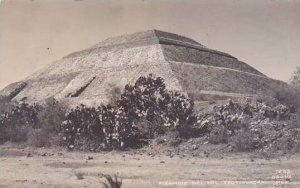 Mexico Teotihuacan Piramide Del Sol Real Photo