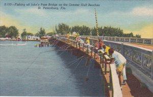 Fishing Off Johns Pass Bridge On The Greater Gulf Beaches Saint Petersburg Fl...