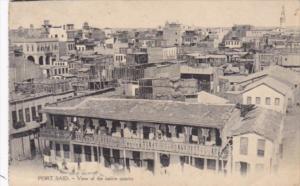 Egypt Port Said View Of The Native Quarter