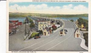LINCOLN HIGHWAY : Columbia-Wrightsville Bridge , Pennsylvania , 1939