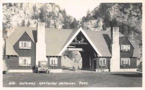 RPPC Kootenay National Park Gateway Entrance Canada British Columbia Postcard