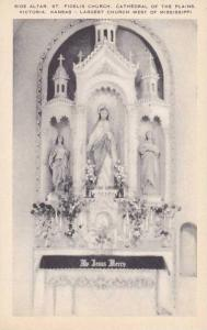 Kansas Victoria Side Alter St Fidelis Church Cathedral Of The lains Largest C...