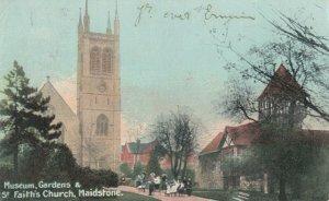 MAIDSTONE , England , 1905 ; Museum Gardens & St. Faith's Church