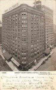 GREAT NORTHERN HOTEL Chicago, Illinois 1906 Vintage Postcard