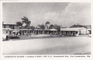 Livingston Manor Fort Lauderdale Florida 1956 Real Photo