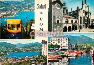 Postcard Modern Como panorama