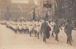 Poland? Parade, March, Uniforms, Postcard