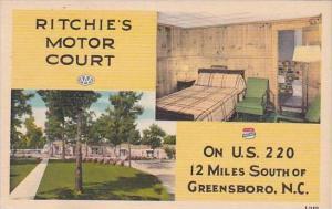 North Carolina Greensboro Ritchies Motor Court