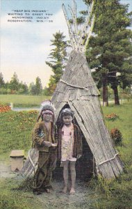Heap Big Indians Waiting To Greet You Menominee Indian Reservation Between Sh...