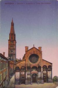 Italy Modena Duomo Facciata e Torre Ghirlandina