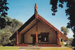New Zealand Maori Meeting House Waitangi Bay Of Islands