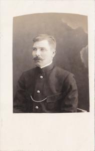 Military French Soldier In Uniform Real Photo