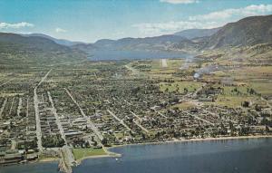 Aerial View, Okanagan Valley, Penticton, British Columbia, Canada, 40´s-60´s