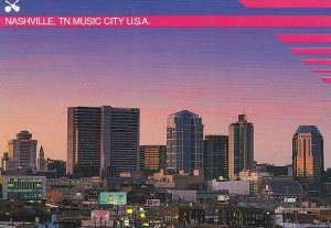 Tennessee Nashville Music City U S A At Sunset
