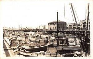 RPPC Fisherman's Wharf, San Francisco, CA Pier, Boats c1940s Vintage Postcard