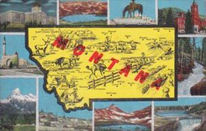 Map Of Montana With Multi Views