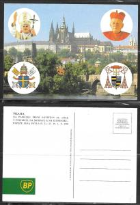 1990 Pope John Paul II visit to Praha Czech Republic, unused