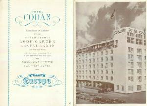 Hotel Codan & Hotel Europa world famous roof garden restaurants cuisine advert.