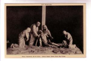 Ste Anne de Beaupre B&W Jesus at XIII Station of Cross, PECO