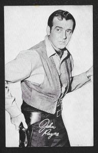 ARCADE CARD Cowboy Entertainer John Payne