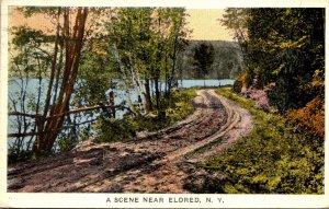 New York Country Road Scene Near Eldred