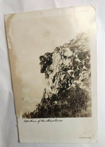 Postcard Old Man Of The Mountains 1940 RPPC Flume Reservation Franconia NH 2024