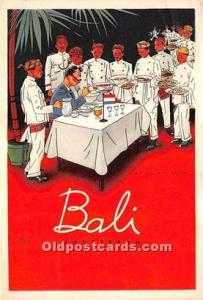 Advertising Postcard - Old Vintage Antique Bali Amsterdam Restaurant 1968