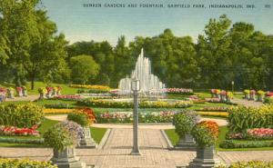 IN - Indianapolis, Garfield Park Sunken Gardens & Fountain