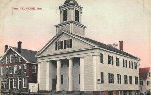 Barre MA Town Hall Postcard