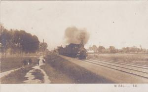RP: Outside WARSAW, Poland, 00-10s; Train on Railroad Tracks