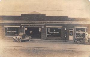 Red Bluff CA~Lauer's Garage~Walnut~Service Car~Gas Tank Truck~Pump RPPC c1918