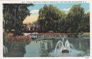 Typical Beautiful scene at Greenfield Lake and Park,  Wilmington,  North Caro...