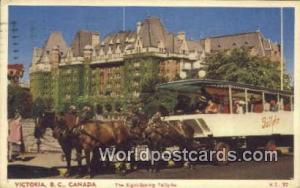 British Columbia, Canada Sight Seeing, Tally-ho Victoria  Sight Seeing, Tally-ho