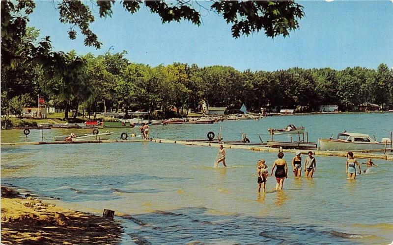 Shelbyville Michigan Sams Landing South Gun Lake Las Kids In Water