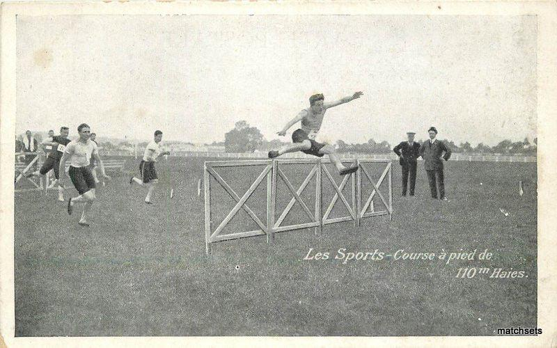 1920s Sports France Track Hurdles postcard 11834