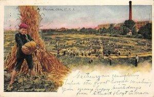NCR Boys Gardens, Dayton, Ohio Pumpkin 1907 Vintage Postcard