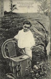 german new guinea, RALUANA, Half-Breed Orphan Boy at Mission Station (1910)