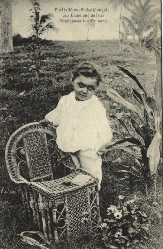 german new guinea, RALUANA, Half-Breed Orphan Boy at Mission Station (1910)