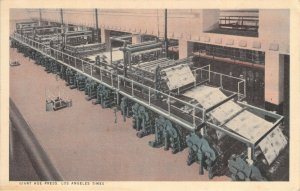 Giant Hoe Super Production Press Los Angeles Times CA California Unused Postcard